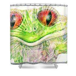 Mr Ribbit Shower Curtain