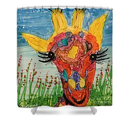 Mrs Giraffe Shower Curtain