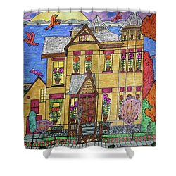 Mrs. Robert Stephenson Home. Shower Curtain by Jonathon Hansen