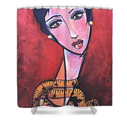 Ms. Bimba Fashionable Seamstress Shower Curtain