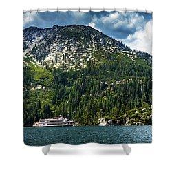 M.s. Dixie II, Lake Tahoe, Ca Shower Curtain