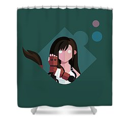 Shower Curtain featuring the digital art Ms. Lockhart by Michael Myers