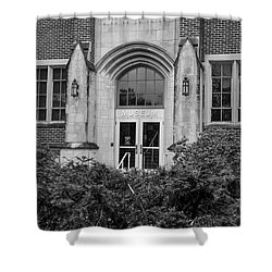 Msu Museum Black And White  Shower Curtain by John McGraw