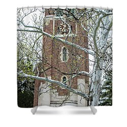 Msu Spring Beaumont Tower  Shower Curtain by John McGraw
