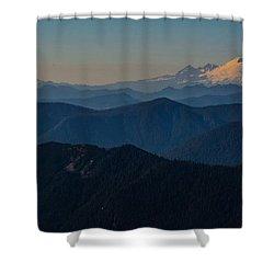 Mt. Baker From Mt. Pilchuck Shower Curtain