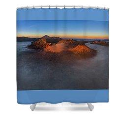 Shower Curtain featuring the photograph Mt Bromo Sunrise by Pradeep Raja Prints