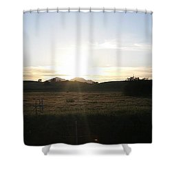 Mt. Diablo Sunset Shower Curtain