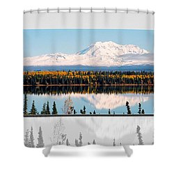 Shower Curtain featuring the photograph Mt. Drum - Alaska by Juergen Weiss