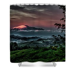 Mt. Etna I Shower Curtain