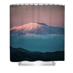 Mt. Etna II Shower Curtain