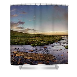 Mt. Evans Alpine Stream Shower Curtain