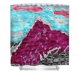 Mt. Fuji Village  Shower Curtain by Don Koester