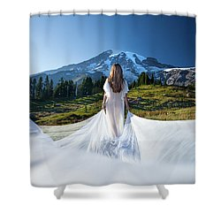 Shower Curtain featuring the photograph Mt Goddess by Dario Infini