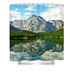 Mt Gould Reflection Shower Curtain