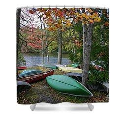 Mt. Gretna Canoes Shower Curtain