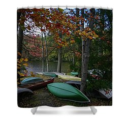 Mt. Gretna Canoes In Fall Shower Curtain