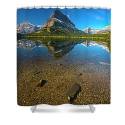 Shower Curtain featuring the photograph Mt. Grinnell by Gary Lengyel