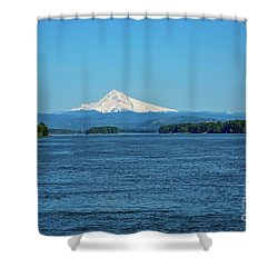 Mt. Hood Above The Columbia River Shower Curtain