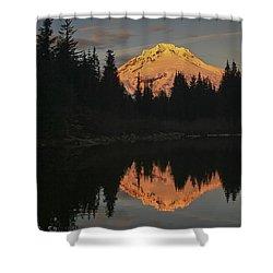 Mt Hood Alpenglow II Shower Curtain