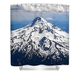 Mt. Hood From 10,000 Feet Shower Curtain