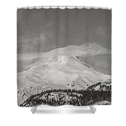 Mt Hood From White River Shower Curtain