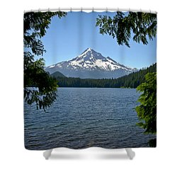 Mt Hood Over Lost Lake Shower Curtain
