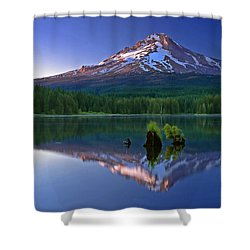 Mt. Hood Reflection At Sunset Shower Curtain