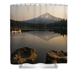 Mt Hood Sunrise  Shower Curtain