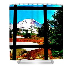 Mt. Hood View Shower Curtain