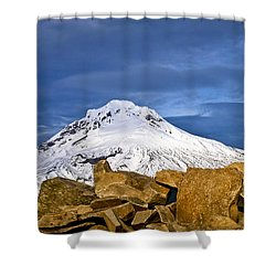 Mt Hood With Talus Shower Curtain