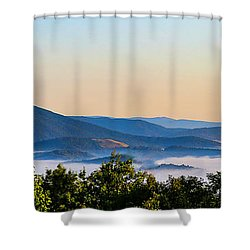 Mt. Jefferson Cloud Lake Shower Curtain by Dale R Carlson