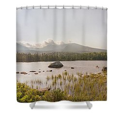 Shower Curtain featuring the photograph Mt Katahdin Pano by Peter J Sucy