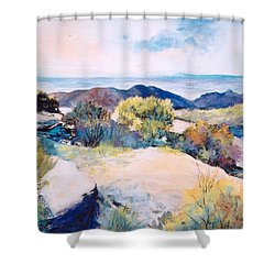 Mt Lemmon View Shower Curtain by M Diane Bonaparte