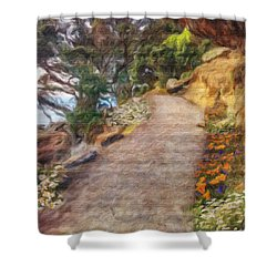 Mt. Maunganui Base Walk Shower Curtain