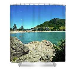 Mt Maunganui Beach 13 - Tauranga New Zealand Shower Curtain