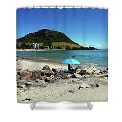 Mt Maunganui Beach 5 - Tauranga New Zealand Shower Curtain