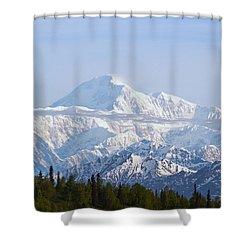 Denali Cloud Line Shower Curtain by Allan Levin