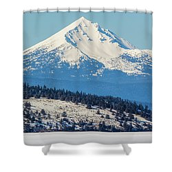 Shower Curtain featuring the photograph Mt. Mcloughlin by Marc Crumpler