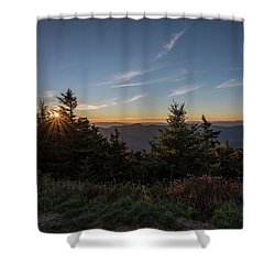 Mt Mitchell Sunset North Carolina 2016 Shower Curtain by Terry DeLuco