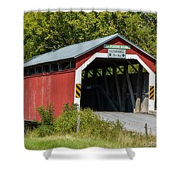 Mt. Pleasant Covered Bridge Shower Curtain