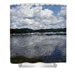Shower Curtain featuring the painting Mt. Pocono Landscape by Joan Reese
