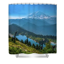 Mt. Rainier And Eunice Lake Shower Curtain