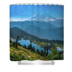 Mt. Rainier And Eunice Lake Shower Curtain