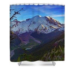 Mt Rainier At Emmons Glacier Shower Curtain