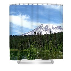 Shower Curtain featuring the photograph Mt. Rainier by Charles Robinson