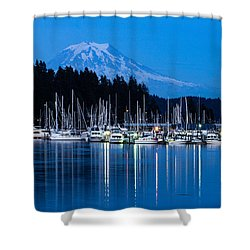 Mt. Rainier From Gig Harbor Shower Curtain