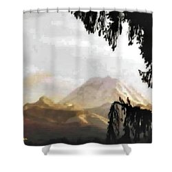 Mt. Rainier In Lace Shower Curtain