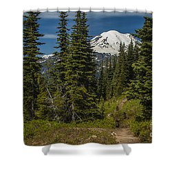 Mt. Rainier Naches Trail Landscape Shower Curtain