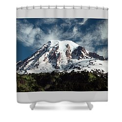 Mt Rainier - Washington State Shower Curtain