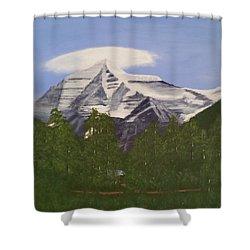 Mt. Robson, Bc Shower Curtain